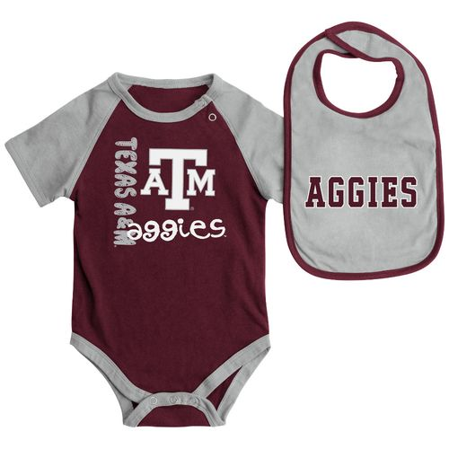 Display product reviews for Colosseum Athletics Infants' Texas A&M University Rookie Onesie and Bib Set