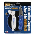 AccuSharp® Knife Sharpener and Folding Sport Knife Combo