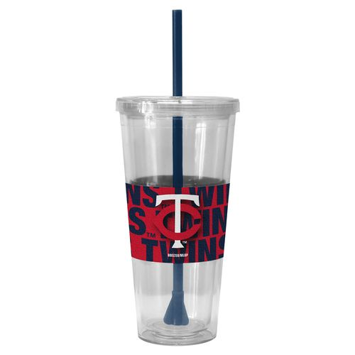 Boelter Brands Minnesota Twins Bold Neo Sleeve 22 oz. Straw Tumblers 2-Pack