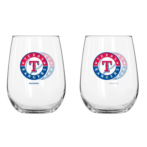 Boelter Brands Texas Rangers 16 oz. Curved Beverage Glasses 2-Pack - view number 1
