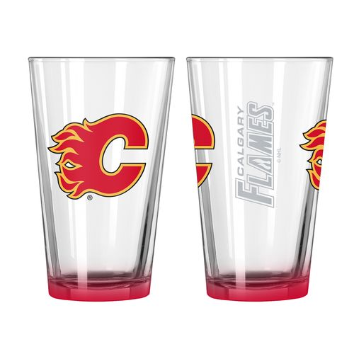 Boelter Brands Calgary Flames Elite 16 oz. Pint Glasses 2-Pack - view number 1