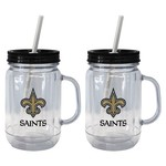 Boelter Brands New Orleans Saints 20 oz. Handled Straw Tumblers 2-Pack - view number 1