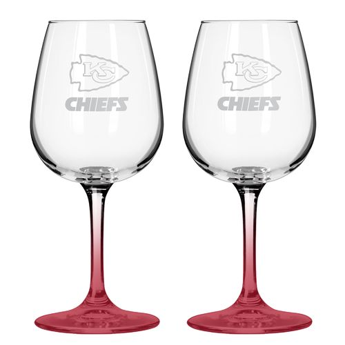Boelter Brands Kansas City Chiefs 12 oz. Wine Glasses 2-Pack
