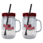 Boelter Brands Arkansas State University 20 oz. Handled Straw Tumblers 2-Pack