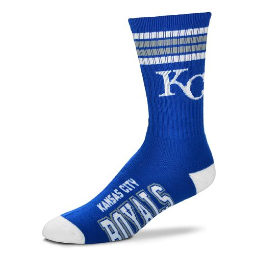 For Bare Feet Adults' Kansas City Royals 4-Stripe Deuce Socks - view number 1