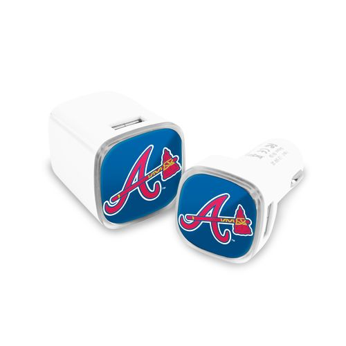 Mizco Atlanta Braves Car and Wall Charger Set