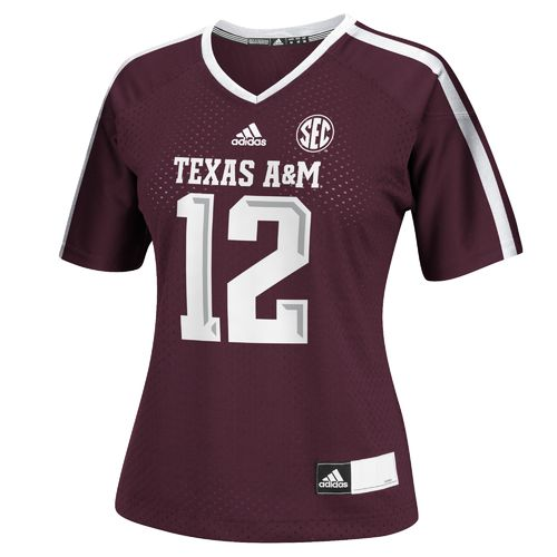 adidas™ Women's Texas A&M University 12th Man Replica Football Jersey