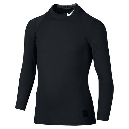 Nike Boys' Warm Mock Neck Long Sleeve Shirt
