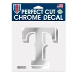 WinCraft Texas Rangers Chrome Perfect Cut Decal