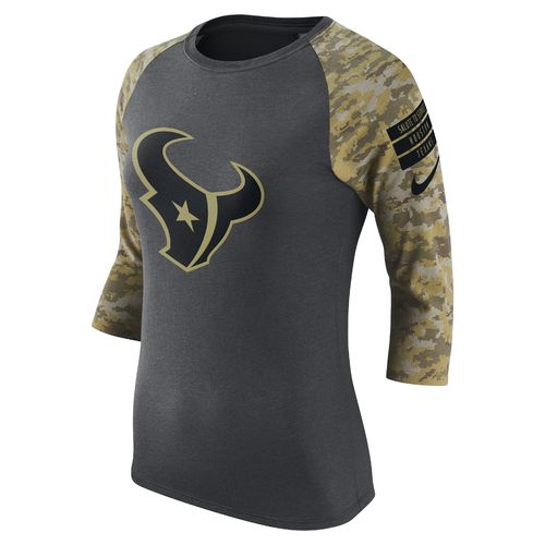 Nike Women's Houston Texans 2016 Salute To Service Legend Raglan T-shirt