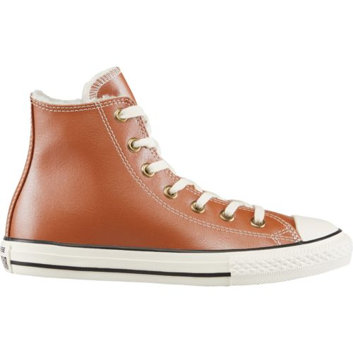 Converse Girls' Chuck Taylor All Star Leather Shearling Hi Shoes