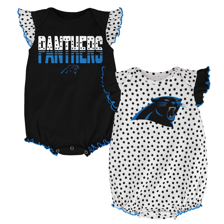 NFL Infants' Carolina Panthers Polka Fan 2-Piece Creeper Set