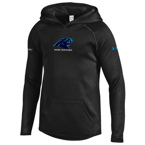 Under Armour NFL Combine Authentic Girls' Carolina Panthers Armour Fleece Hoodie