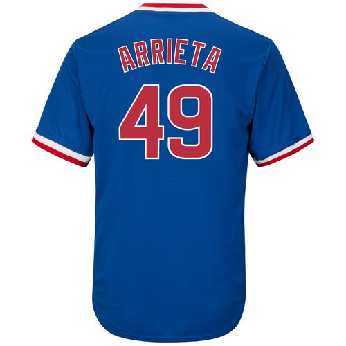 Majestic Men's Chicago Cubs Jake Arrieta #49 Cool Base Cooperstown Jersey