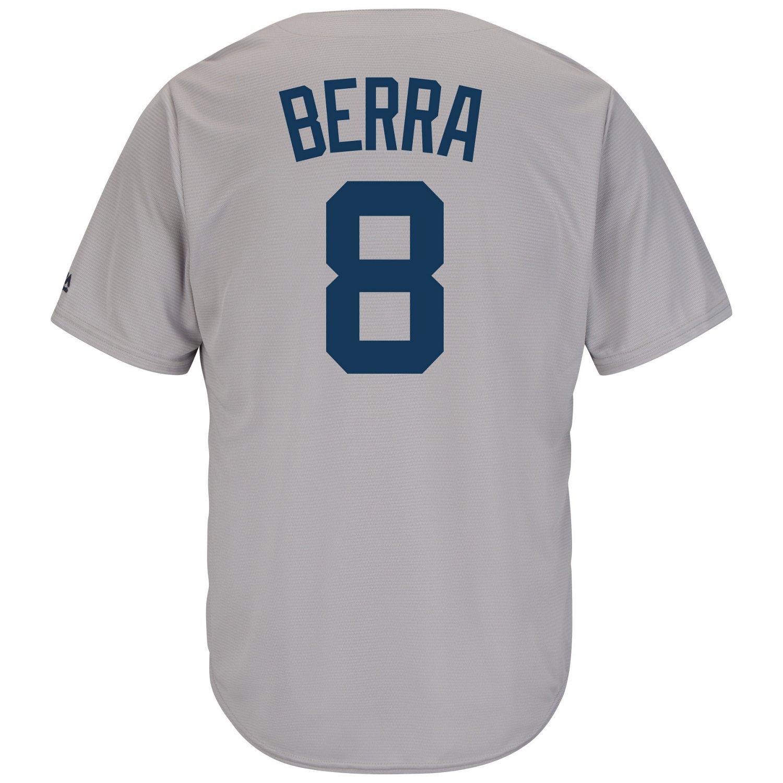 Majestic Men's New York Yankees Yogi Berra #8 Cooperstown Cool Base Replica Jersey