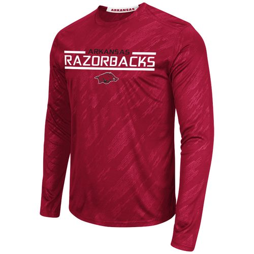 Colosseum Athletics™ Men's University of Arkansas Sleet Embossed Long Sleeve T-shirt