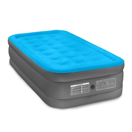 Air Comfort Camp Mate Raised Twin-Size Air Mattress with Battery-Powered Pump