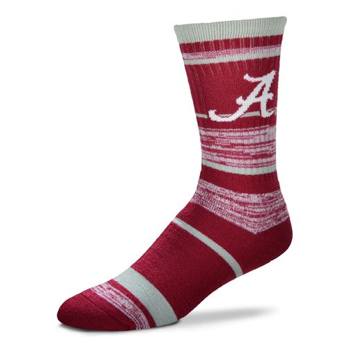 For Bare Feet Men's University of Alabama Stripe Athletic Crew Socks