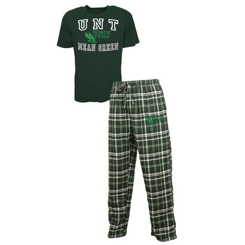 Concepts Sport™ Men's University of North Texas Tiebreaker Shirt and Pant Set