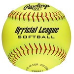 Rawlings Girls' 11 in Recreational Fast-Pitch Softballs 6-Pack - view number 1