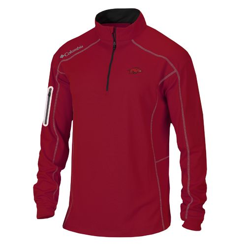 Columbia Sportswear™ Men's University of Arkansas Shotgun 1/4 Zip Pullover