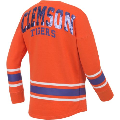 Colosseum Athletics™ Girls' Clemson University Boyfriend Varsity Pullover