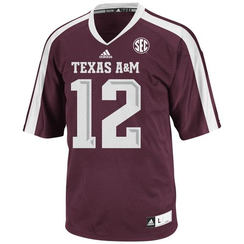 adidas™ Men's Texas A&M University 12th Man Premier Jersey