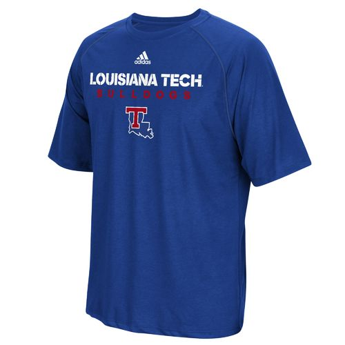 adidas Men's Louisiana Tech University Sideline climalite T-shirt