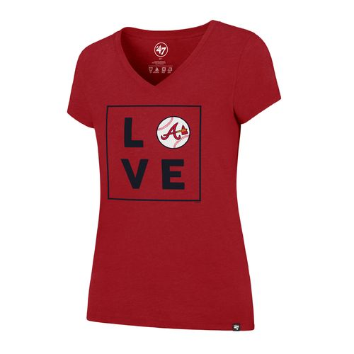 '47 Atlanta Braves Women's Love Club V-neck T-shirt