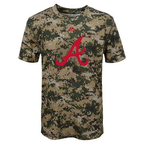 MLB Boys' Atlanta Braves Digi Camo T-shirt
