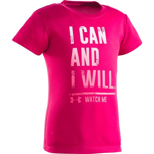 Under Armour Girls' I Can and I Will Short Sleeve T-shirt