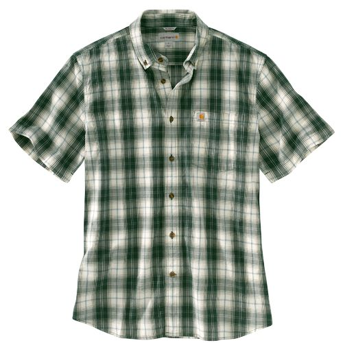 Display product reviews for Carhartt Men's Essential Plaid Button Down Short Sleeve Shirt