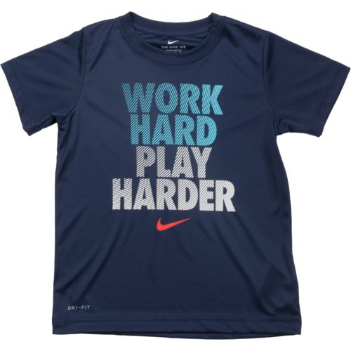 Nike Boys' Work Hard Play Harder Dri-FIT T-shirt