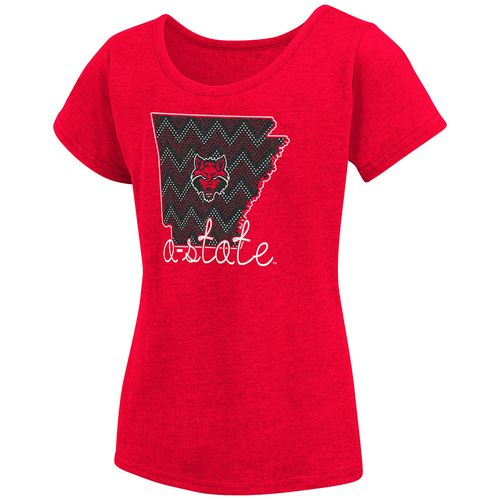 Colosseum Athletics™ Girls' Arkansas State University Tissue 2017 T-shirt