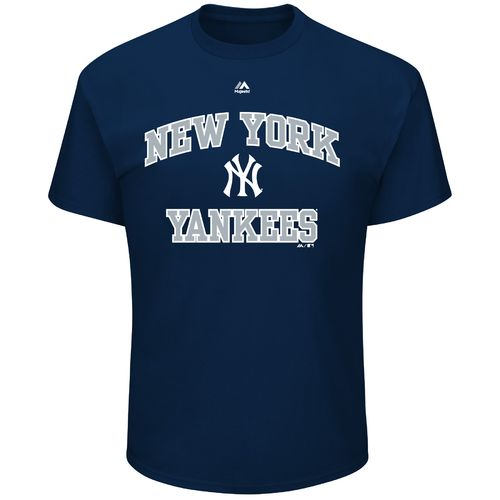 Majestic Men's New York Yankees Heart and Soul III Basic Short Sleeve T-shirt