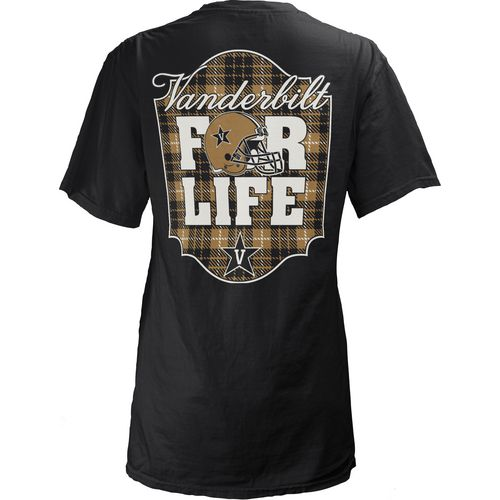 Three Squared Juniors' Vanderbilt University Team For Life Short Sleeve V-neck T-shirt