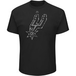 Majestic Athletic Men's San Antonio Spurs Reflective Logo with Foil T-shirt - view number 1