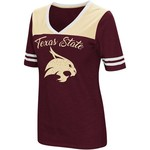 Colosseum Athletics Women's Texas State University Twist 2.1 V-Neck T-shirt - view number 1