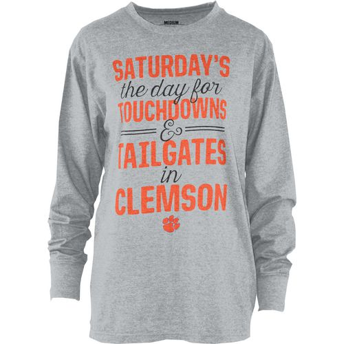 Three Squared Juniors' Clemson University Touchdowns and Tailgates T-shirt