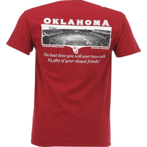 New World Graphics Men's University of Oklahoma Friends Stadium T-shirt