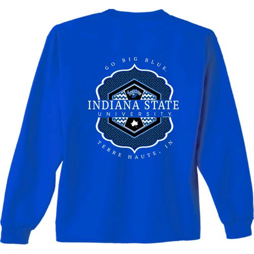 New World Graphics Women's Indiana State University Faux Pocket T-shirt
