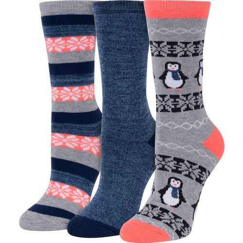 BCG Women's Winter-Themed Crew Socks