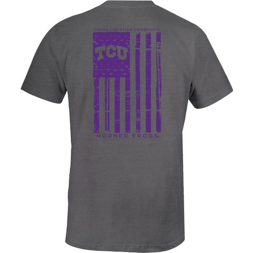 Image One Men's Texas Christian University Distressed Flag T-shirt