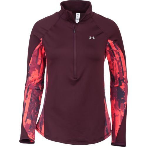 Under Armour Women's ColdGear Armour 1/2 Zip Printed Performance Top