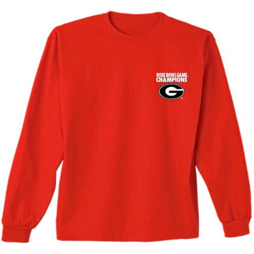 New World Graphics Men's University of Georgia Rose Bowl Champions Long Sleeve T-shirt