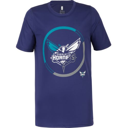 NBA Boys' Charlotte Hornets Double Slice Performance Short Sleeve T-shirt