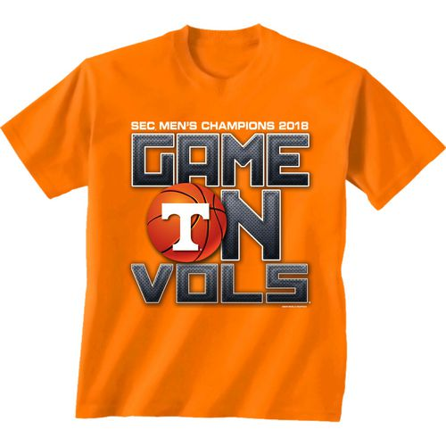 New World Graphics Men's University of Tennessee 2018 SEC Basketball Champions Game On T-Shirt