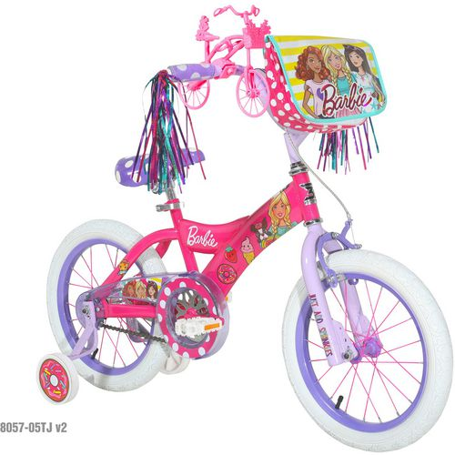 Dynacraft Girls' Ride With Me Barbie 16 in Bicycle