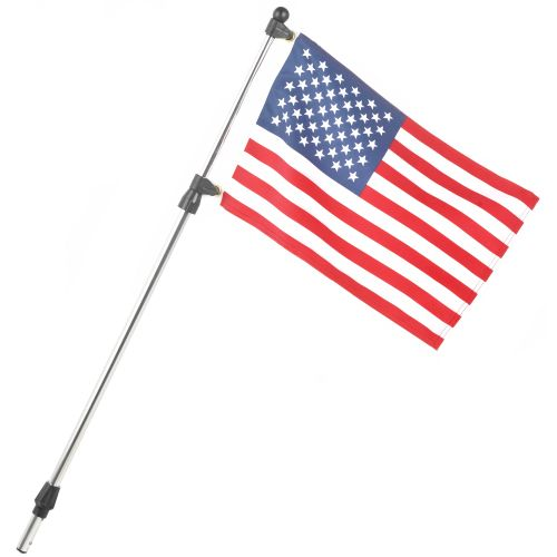 "SeaSense® Telescoping Flagpole with 12"" x 18"" US flag"