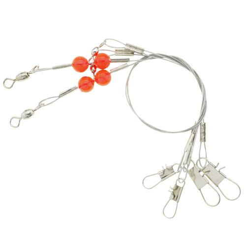 "Display product reviews for Eagle Claw 24"" Double Drop Wire Leader Rigs 2-Pack"
